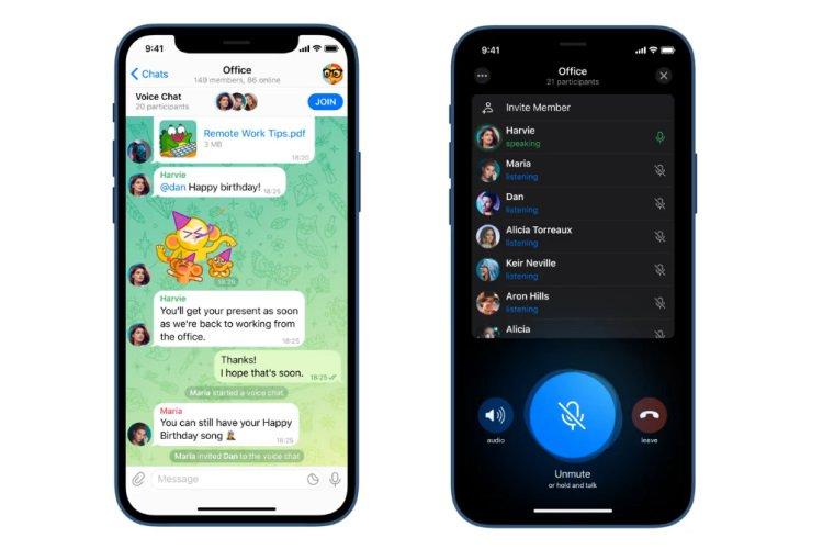 Telegram kanallarında Sesli Sohbetler nasıl kullanılır?