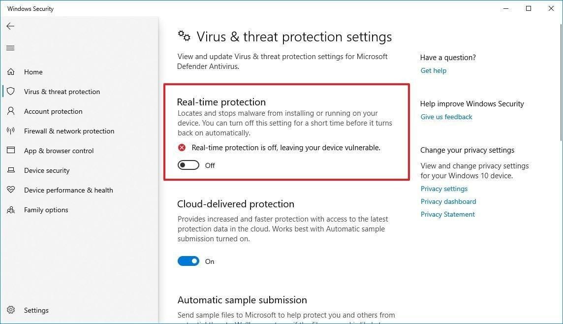 Windows Defender için gerçek zamanlı koruma nasıl etkinleştirilir?