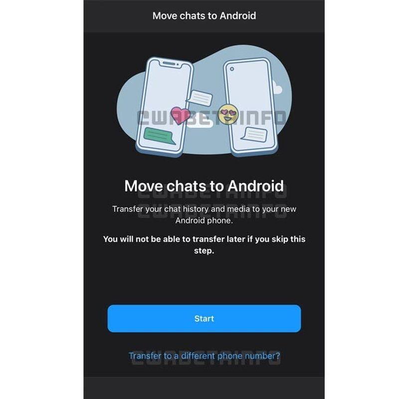 WhatsApp, sohbetleri Android'den iPhone'a ve yeni bir telefon numarasına taşımanıza izin verir