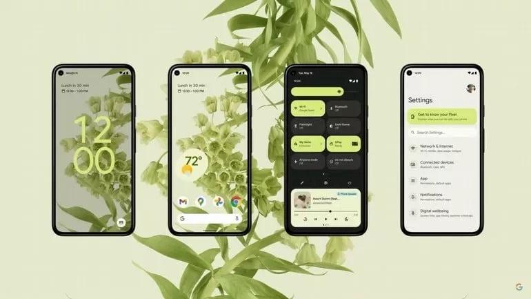 Android 12 beta artık bu akıllı telefonlara yüklenebilir