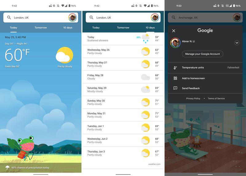 Google, Hava Durumu ve Gboard'u yeniden tasarladı