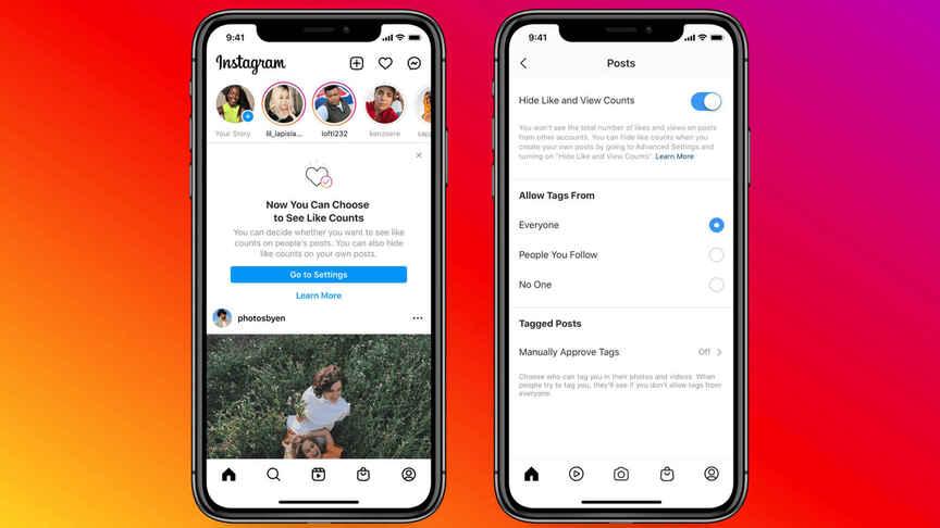 Android için Instagram'da beğeniler nasıl gizlenir?