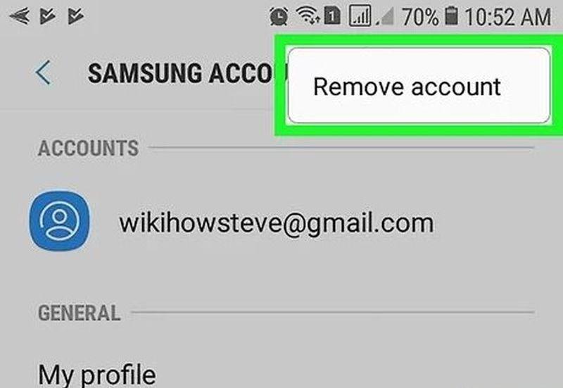 Hatırlamadığınız Samsung hesabınızı akıllı telefondan silme