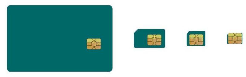 SIM kart, MicroSIM kart ve NanoSIM kart farkları