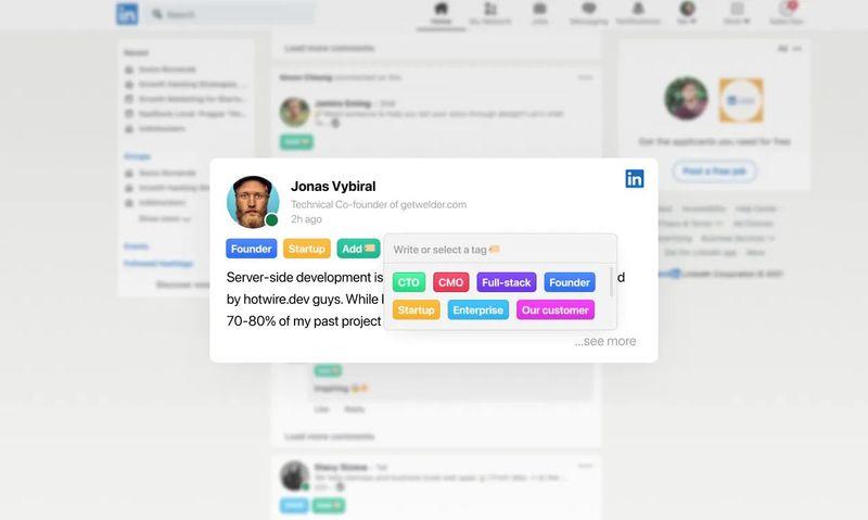 TidyTag, LinkedIn kişilerini etiketlerle sıralamak için uzantı