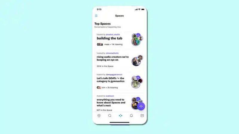Twitter, Spaces'a odaklanmak için uygulamasını yeniden tasarladı