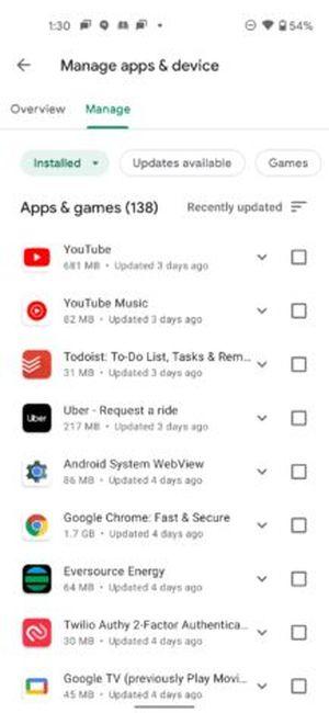 """Güle güle """"Benim uygulamalarım"""", Merhaba """"Uygulamaları yönet"""": Yeniden tasarlanan Google Play, kullanıcılara bu şekilde sunuluyor"""