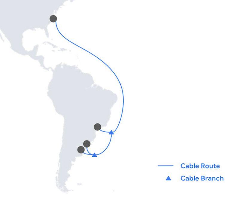 Google'ın yeni denizaltı kablosu Firmina, Amerika Birleşik Devletleri'ni Arjantin'e bağlayacak