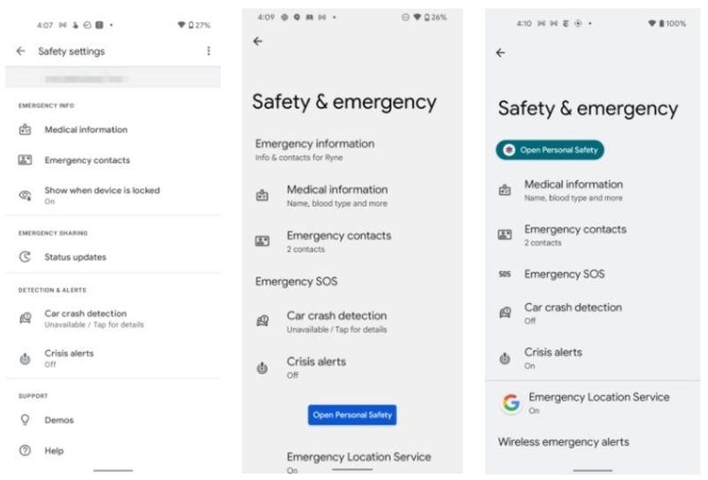 Android 12, ayarlarında 'Güvenlik ve acil durum' menüsünü kullanıma sunuyor: İçinde bulacağınız şeyler burada
