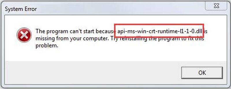 """""""Bilgisayarınızda API-ms-win-crt-runtime-l1-1-0.dll olmadığı için program başlamıyor"""" hatası çözümü"""