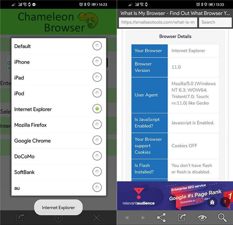 Android telefonda Internet Explorer gerektiren web sayfaları nasıl açılır?