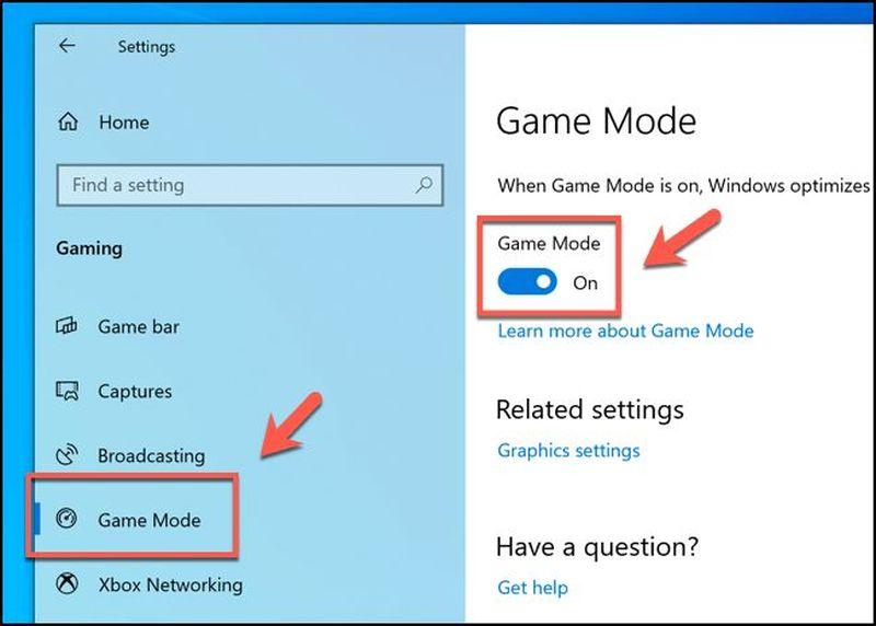 Windows 10'da oyun performansı artırma yöntemleri