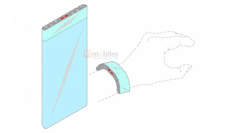 Samsung, akıllı saat olarak kullanılabilen ayrılabilir ekranlı yeni telefonun patentini aldı