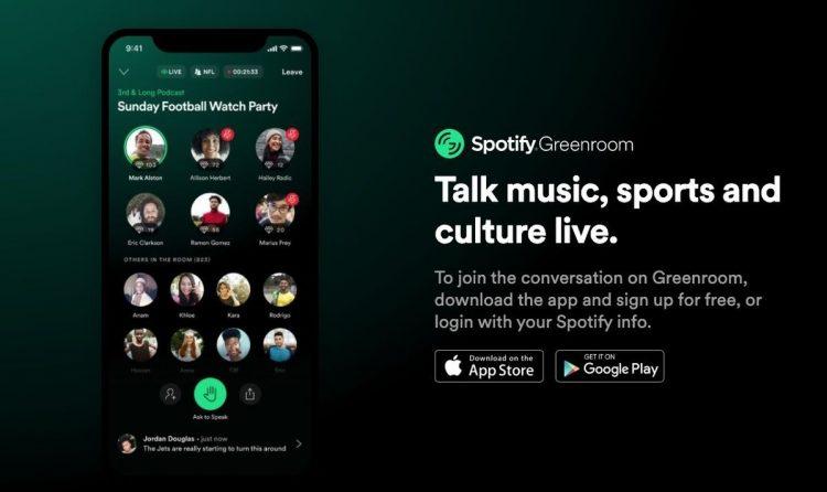 Spotify, yeni Greenroom uygulaması ile Clubhouse trendine katılıyor