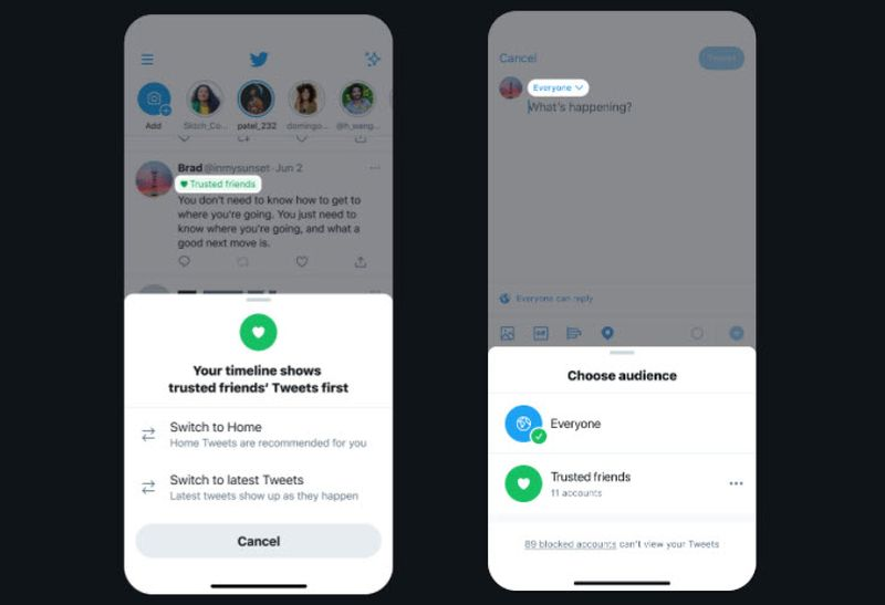 Twitter, yalnızca arkadaşlara veya belirli gruplara tweet atma üzerinde çalışıyor