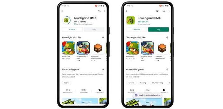 Android 12, indirme bitmeden bir oyun oynamaya olanak tanıyacak