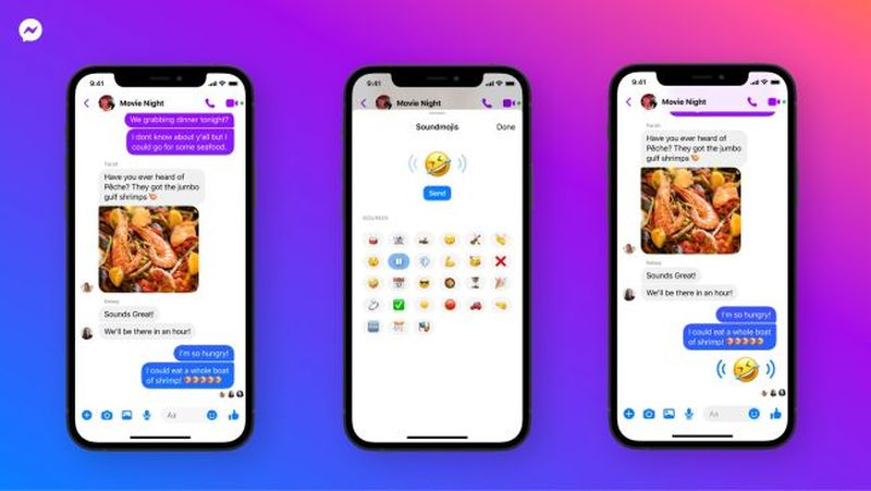 Facebook Messenger'a ses emojileri geliyor