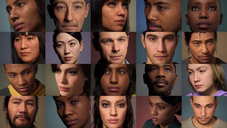 MetaHuman Creator ile oluşturulan çok gerçekçi insan yüzü tasarımları