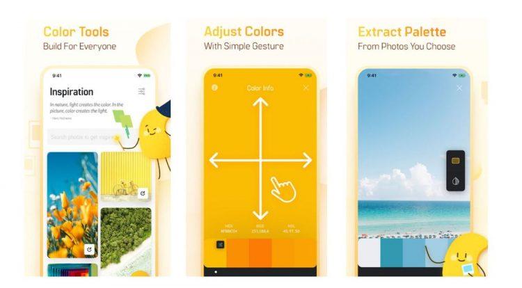 Colorgizes uygulaması fotoğraflarınızdan renk paletleri çıkarıyor
