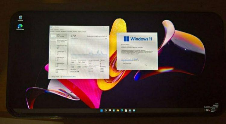 Windows 11, 2018 çıkışlı Android telefonlarında çalışıyor
