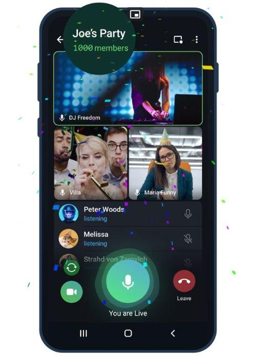 Telegram'da 1000 kişilik görüntülü görüşme devri başlıyor!