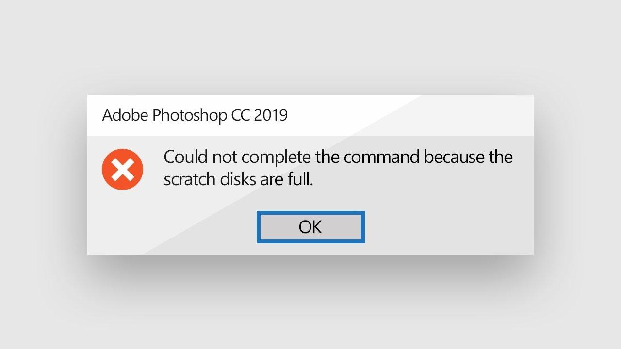 Photoshop disk dolu hatası çözümü (2021)