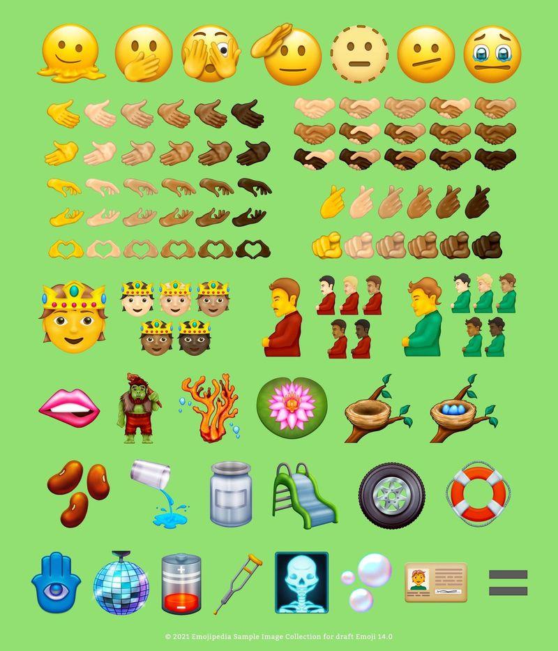 iOS 15 ile gelecek yeni emojiler