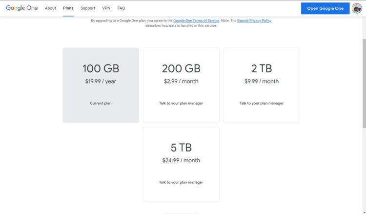 Google One kullanıcılarına 5 TB depolama planı sunacak