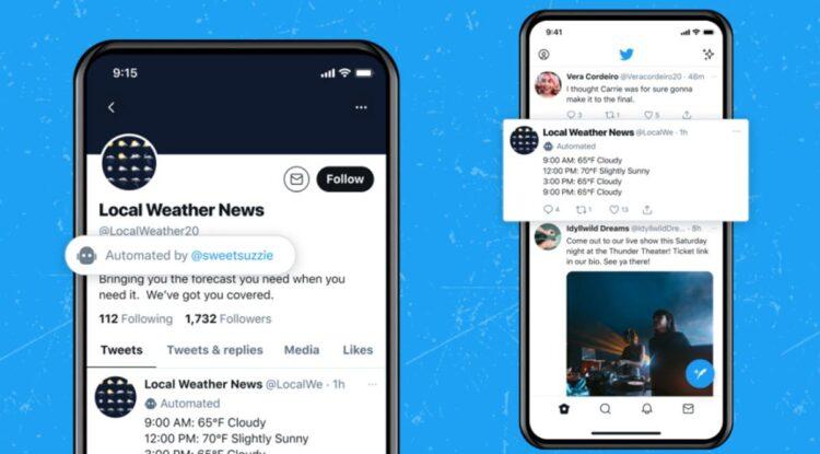 Twitter, bot hesapları için etiketleme özelliğini test ediyor