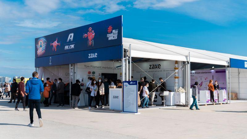 Zaxe'nin son teknolojiye sahip 3D yazıcıları global lansmanını Teknofest'te yaptı