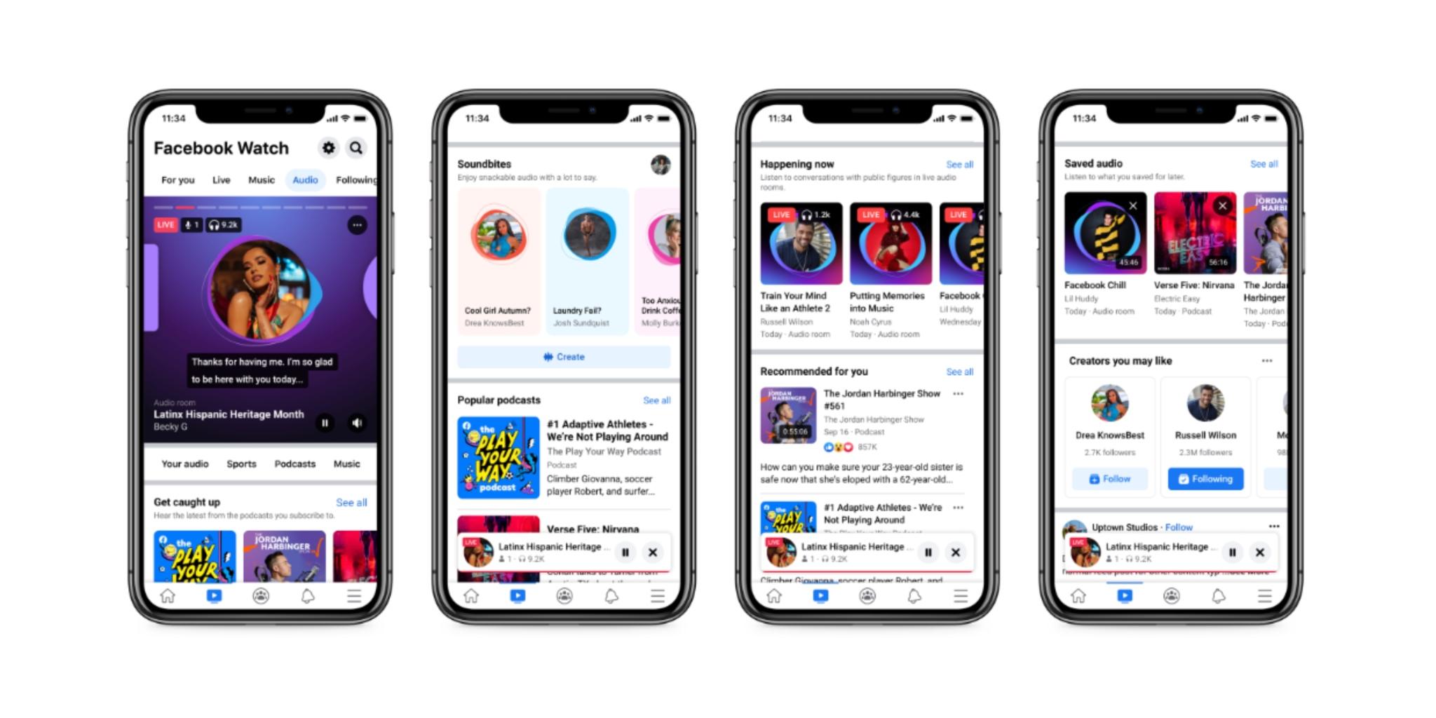 Facebook yeni ses sekmesini tanıttı: Podcast'ler, canlı ses ve daha fazlası