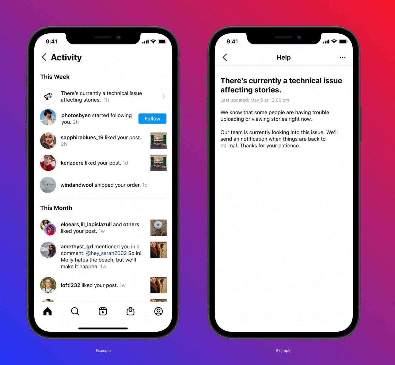 Instagram'dan iki yeni özellik: Activity Feed ve Account Status