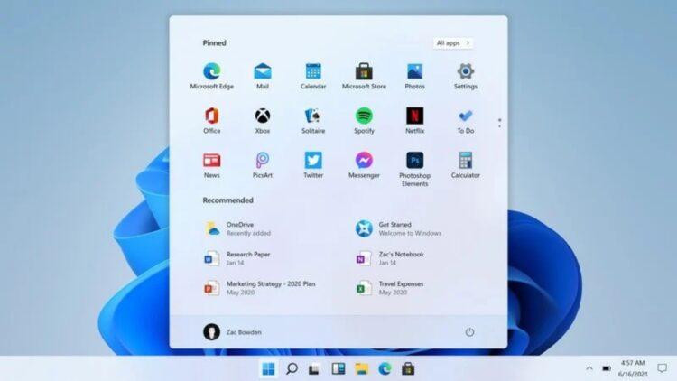 Windows 11 önerilenler kapatma