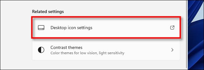 How to change which desktop icons appear on Windows 11?
